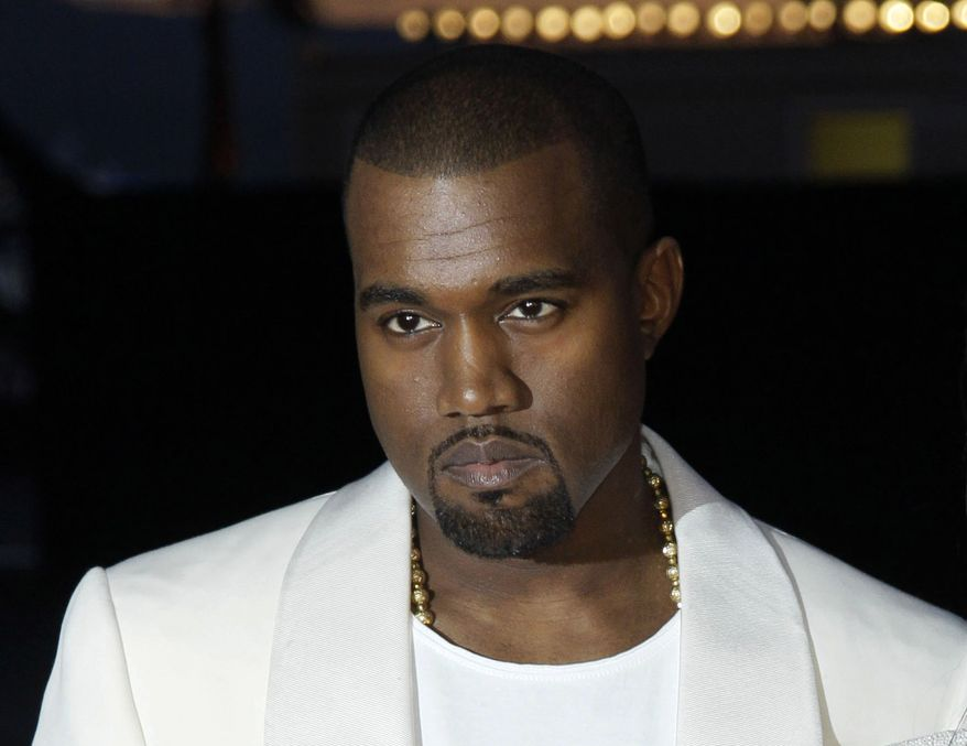 "** FILE ** In this May 23, 2012, file photo, singer Kanye West arrives for the screening of ""Cruel Summer"" at the 65th international film festival, in Cannes, southern France. ABC says West is appearing on Jimmy Kimmel's late-night show, less than two weeks after the pair got into what Kimmel called a ""rap feud."" The musician will be a guest Wednesday, Oct. 9, 2013, on ""Late Night with Jimmy Kimmel,"" the network said Tuesday.  (AP Photo/Francois Mori, File)"