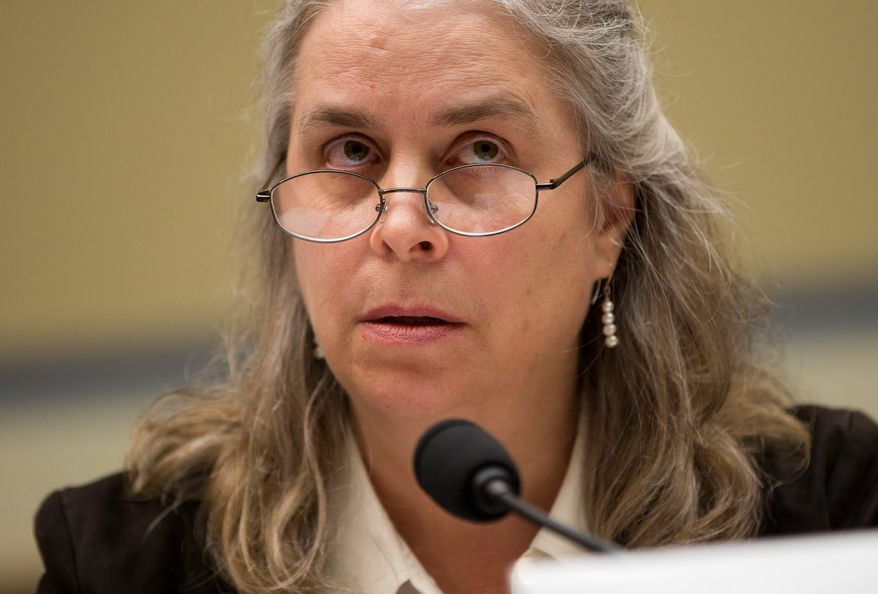 """Sarah Hall Ingram, director of the Affordable Care Act Office at the Internal Revenue Service, told a House committee Wednesday that she was """"not conscious of ever sharing 6103 data information at the White House."""" She said the agency is keeping Obamacare applicants' information private. She also said she had """"no recollection"""" of hearing about IRS targeting of conservatives. (ASSOCIATED PRESS)"""