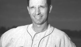 FILE - This is a 1952 file photo showing Brooklyn Dodgers baseball player Andy Pafko. Pafko, a four-time All-Star who played on the last Chicago Cubs team to reach the World Series, has died at age 92. Pafko died Tuesday, Oct. 8, 2013 of apparent natural causes, according to Kraig Pike, the director of the Pike Funeral Home in Bridgman, Mich.  Pafko also played for the Brooklyn Dodgers and the Milwaukee Braves, and played in four World Series during 17 years in the major leagues. (AP Photo/File)