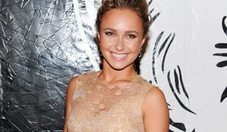 ** FILE ** In this May 15, 2013, file photo, actress Hayden Panettiere attends the Versus Versace and Capsule Collection fashion show at the 69th Regiment Armory, in New York. Panettiere is confirming her engagement to Olympic boxer Wladimir Klitschko. (Photo by Evan Agostini/Invision/AP, File)