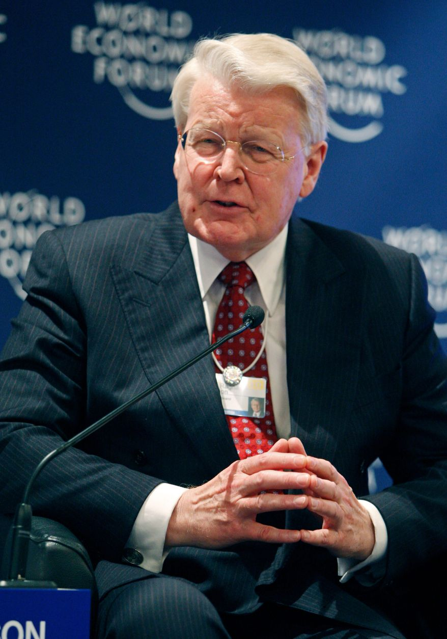 """""""The Arctic is America's backyard. It is one of the most resource-rich areas in the world.  American companies and the [its] economy need to have a strong Arctic"""" plan, says Iceland President Olafur Ragnar Grimsson, co-founder of the Arctic Circle Assembly. (Associated Press)"""
