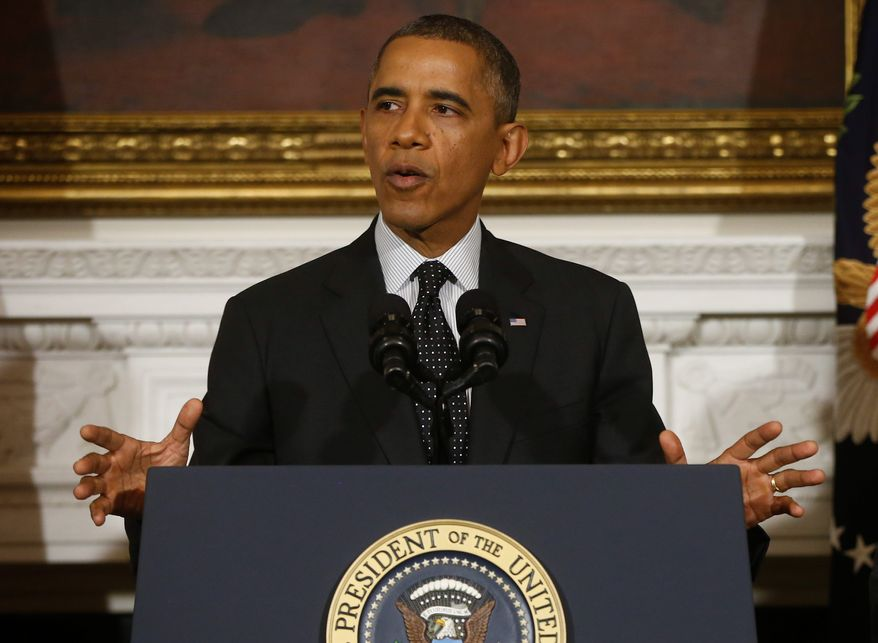 Expanded background checks on gun purchases, immigration reform and other key goals for the president over the next three years threaten to be crowded out and ultimately relegated to the political graveyard if President Obama is unable to make a deal with Republicans on the government shutdown and debt ceiling. (associated press)