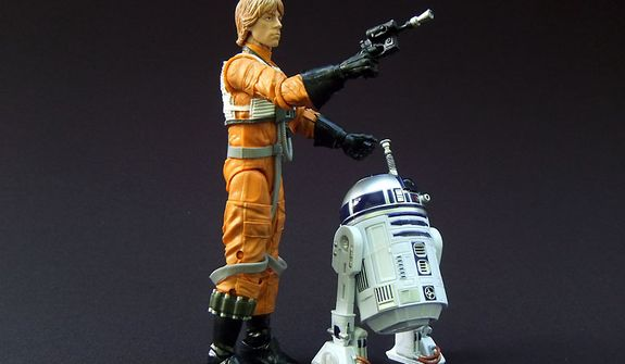 Hasbro's Star Wars: The Black Series 6-inch line-up features Luke Skywalker and R2-D2 action figures. (Photo by Joseph Szadkowski/The Washington Times)