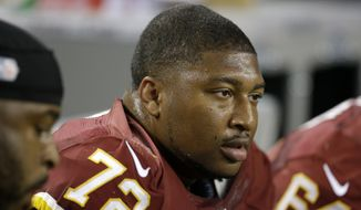 Washington Redskins defensive end Stephen Bowen (72) during second half of an NFL football game against the Dallas Cowboys Sunday, Oct. 13, 2013, in Arlington, Texas. (AP Photo/LM Otero)