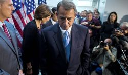 """TOUGH JOB: House Speaker John A. Boehner, Ohio Republican, is """"doing as well as any human being can do,"""" according to Rep. H. Morgan Griffith, Virginia Republican. (Associated Press)"""