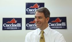 """""""The truth is our friend,"""" Kenneth T. Cuccinelli II, Virginia's attorney general and Republican candidate for governor, says of his optimism that he can close the polling gap with Democrat Terry McAuliffe before Election Day. (Andrew S. Geraci/The Washington Times)"""
