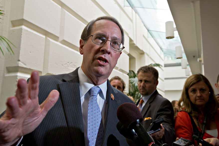 Rep. Robert W. Goodlatte, Virginia Republican, says any Internet sales tax his committee would consider must be simple for online merchants to administer. (Associated Press)