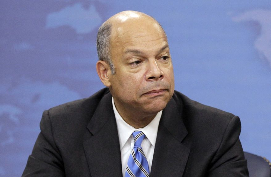 ** FILE ** In this Nov. 30, 2010, file photo, Jeh Johnson speaks during a news conference at the Pentagon in Washington. President Barack Obama has chosen former Pentagon lawyer Johnson as the new secretary of the Homeland Security Department. Obama announced Johnson's nomination Friday, Oct. 18, 2013. (AP Photo/Charles Dharapak, File)