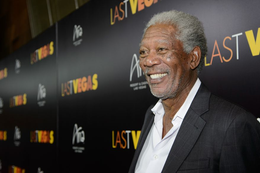 Actor Morgan Freeman  arrives at the after party for a screening of CBS Films' 'Last Vegas' at Haze Nightclub at the ARIA Resort & Casino at CityCenter on Oct. 18, 2013 in Las Vegas, Nevada.  (Photo by Al Powers/Powers Imagery/Invision/AP)
