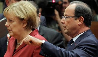 German Chancellor Angela Merkel  and French President Francois Hollande are among the U.S. allies who are upset at revelations that the U.S. National Security Agency was engaging in eavesdropping in their countries. Brazilian President Dilma Rousseff was so upset, she refused to attend a U.S. state dinner. (ASSOCIATED PRESS)
