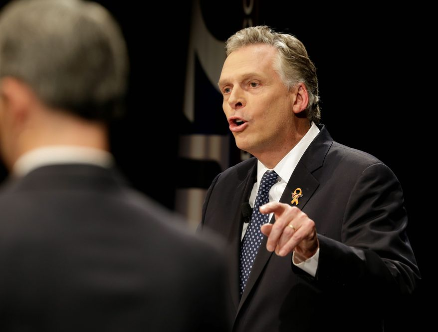 Virginia Democratic gubernatorial candidate Terry McAuliffe's lack of explanation about his financial and property ties with Union Labor Life Insurance Co. raises questions about his campaign pledge of transparency. (Associated Press)
