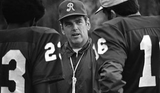 George Allen, head coach of Washington Redskins football team shown in 1972. (AP Photo)