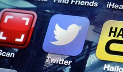 A Twitter app is pictured on an iPhone screen in New York on Friday, Oct. 18, 2013. (AP Photo/Richard Drew)