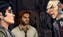 Snow White, Bigby Wolf and Ichabod Crane in the interactive drama The Wolf Among Us.