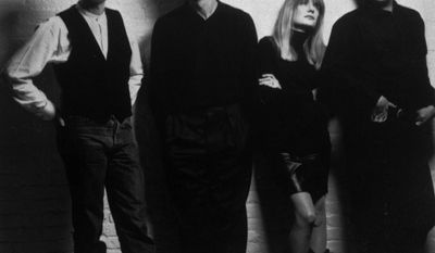The Talking Heads, shown in this 1988 file photo, are from left to right: David Byrne, Jerry Harrison, Tina Weymouth and Chris Frantz. (Associated Press)