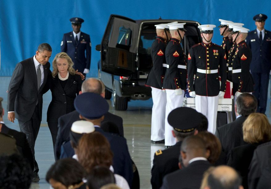 Keeping a Secret: President Obama and Secretary of State Hillary Rodham Clinton left out of their story line of the Benghazi attack the fact that U.S. military special operations commandos came to the rescue of besieged Americans. (Associated Press)