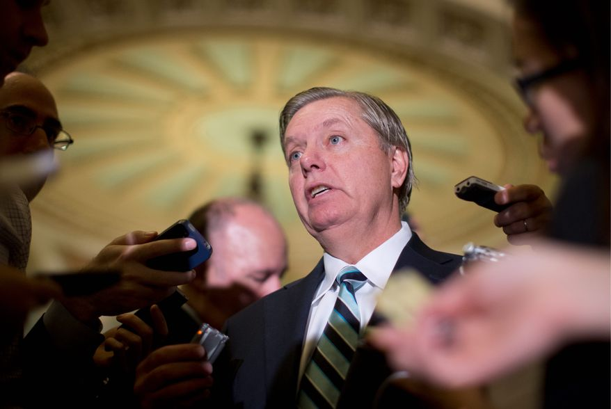 "Sen. Lindsey Graham said Wednesday that journalists ""should be concerned"" about becoming ""soft targets"" for terror attacks. (Associated Press)"