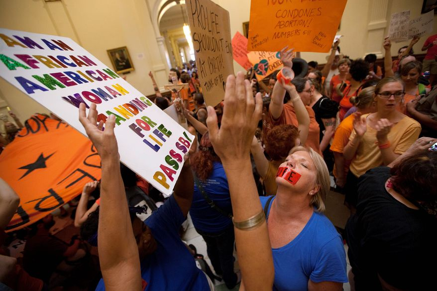 Texas became ground zero in the abortion fight in July after the state passed a highly restrictive law. The Supreme Court received an appeal Monday to block key provisions of the law. Texas Planned Parenthood asked the high court to put an emergency hold on the law requiring abortionists to have hospital-admitting privileges. (Associated press)