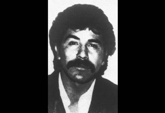 """The undated file photo distributed by the Mexican government shows Rafael Caro Quintero, who was released from prison by a judge after serving 28 years of a sentence for the torture and killing of Drug Enforcement Administration Special Agent Enrique """"Kiki"""" Camarena. The U.S. government is pressing for his recapture. (Associated Press)"""