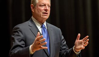 Former U.S. Vice President Al Gore speaks at McGill University in Montreal on Tuesday, Nov. 5, 2013. (AP Photo/The Canadian Press, Ryan Remiorz)