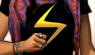 "This comic book cover image released by Marvel Comics shows character Kamala Khan on the ""Ms. Marvel"" issue. The new monthly Ms. Marvel is debuting as part of the Company's popular All-New Marvel NOW! initiative. (AP Photo/Marvel Comics)"