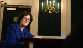 Newsmaker interview with Texas Comptroller Susan Combs, Washington, D.C., Wednesday, Nov. 6, 2013. (Andrew Harnik/The Washington Times)