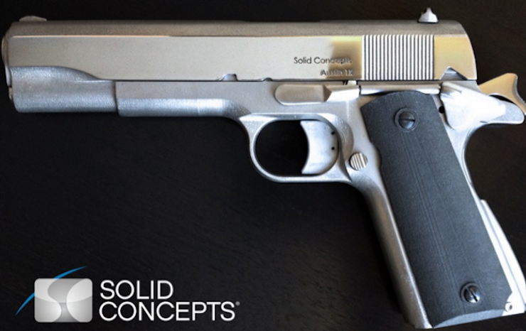 Three-dimensional printed metal gun by Solid Concepts (Screen grab from http://blog.