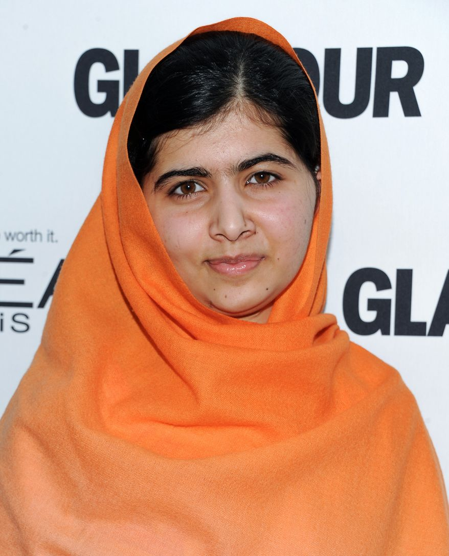 Honoree Malala Yousafzai attends the 23rd Annual Glamour Women of the Year Awards hosted by Glamour Magazine at Carnegie Hall on Monday, Nov. 11, 2013 in New York. (Photo by Evan Agostini/Invision/AP)