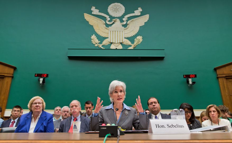 "Health and Human Services Secretary Kathleen Sebelius provided a quote for WebMD's press release in when the website announced its online portal, saying it would educate consumers and help ""improve the quality of healthcare for millions of people across our nation."" The government's ties with the company has raised ethical questions. (associated press)"
