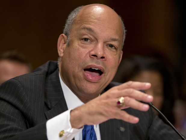 **FILE** Jeh Johnson, President Barack Obama's choice to become Homeland Security Secretary, testifies on Capitol Hill on Nov. 13, 2013, before the Senate Homeland Security and Governm