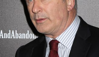 """** FILE ** In this Oct. 24, 2013, file photo, producer and actor Alec Baldwin attends the HBO premiere of """"Seduced and Abandoned"""" at The Time Warner Center in New York. On Friday, Nov. 15, 2013, MSNBC suspended Baldwin for two weeks for inflammatory remarks he made to a reporter earlier in the week. (Photo by Greg Allen/Invision/AP)"""