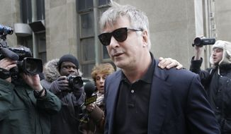 ** FILE ** In this Tuesday, Nov. 12, 2013, file photo,  actor Alec Baldwin leaves criminal court in New York. (AP Photo/Seth Wenig, File)