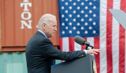 "Vice President Joseph R. Biden speaks about the impact of the Port of Houston on the local economy during a ceremony in Pasadena, Texas, on Monday. Addressing the problems with Obamacare, Mr. Biden said, ""The truth is, we're going to fix it  God willing."" Mr. Biden is just one potential Democratic presidential hopeful saddled with the politically delicate task of figuring out how to handle Obamacare's rocky start. (Associated Press)"