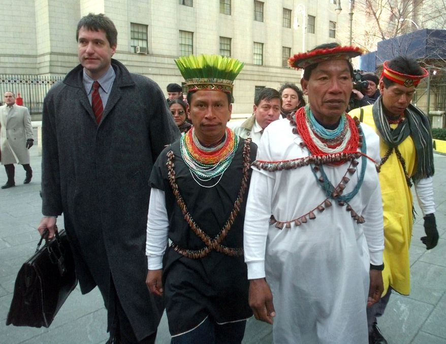 The trial in New York of lawyer Steven Donziger, who brought natives of the Ecuadorean Amazon to court with him in 1999, reaches a climax this week as he defends himself against charges that he engineered a record-breaking $19 billion judgment against Chevron Corp. for contamination of the Amazon rain forest. Ecuador had originally opposed the class-action suit, filed in 1993 on behalf of indigenous Indians and others. (Associated Press)