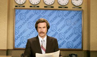 "Will Ferrell portrays news anchorman Ron Burgundy in the 2004 comedy film ""Anchorman: The Legend of Ron Burgundy."" (AP Photo/Paramount Pictures, Frank Masi)"