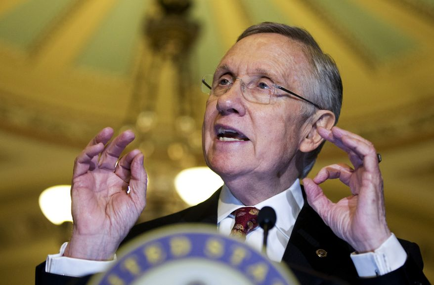 Senate Majority Leader Harry Reid of Nev., speaks during a news conference on Capitol Hill in Washington, Tuesday, Nov. 19, 2013.      (AP Photo/Manuel Balce Ceneta)