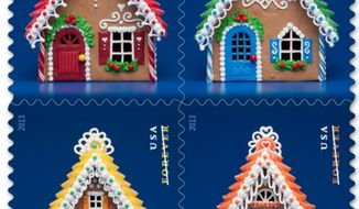 Gingerbread stamps. (Screen grab of https://store.usps.com/)