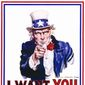 Uncle Sam 'I Want You For US Army' recruiting poster.