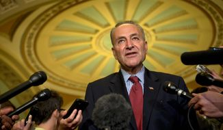 "Sen. Charles E. Schumer, New York Democrat, said ""this is serious stuff,"" referring to renewing the ban on plastic guns. His office said that there may still be time for the Senate to renew the ban when it expires on the day that the chamber reconvenes. (ASSOCIATED PRESS PHOTOGRAPHS)"