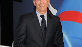 Hollywood, the friendly place: DreamWorks CEO Jeffrey Katzenberg hosts President Obama during the last of seven Democratic fundraisers on Tuesday. Proof? A fundraiser hosted by Mr. Katzenburg last year brought in $15 million. (Invision via Associated Press)