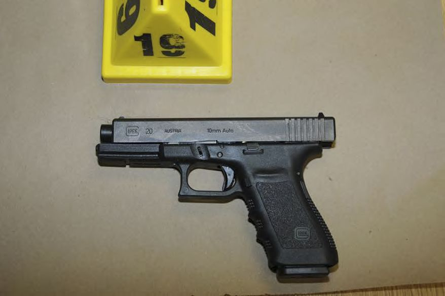 "This image contained in the ""Appendix to Report on the Shootings at Sandy Hook Elementary School and 36 Yogananda St., Newtown, Connecticut On December 14, 2012"" and released Monday, Nov. 25, 2013, by the Danbury, Conn., State's Attorney shows a weapon at Sandy Hook Elementary School in Newtown, Conn. Adam Lanza opened fire inside the school killing 20 first-graders and six educators before killing himself as police arrived. (AP Photo/Office of the Connecticut State's Attorney Judicial District of Danbury)"
