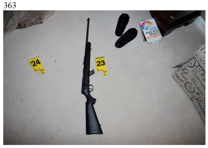 """This image contained in the """"Appendix to Report on the Shootings at Sandy Hook Elementary School and 36 Yogananda St., Newtown, Connecticut On December 14, 2012"""" and released Monday, Nov. 25, 2013, by the Danbury, Conn., State's Attorney shows a scene at 36 Yogananda St., where gunman Adam Lanza lived with his mother in Newtown, Conn. (AP Photo/Office of the Connecticut State's Attorney Judicial District of Danbury) ** FILE **"""