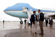 Louisiana Gov. Bobby Jindal, greeting President Obama in New Orleans in 2010, has put renewed focus on the school choice issue. (associated press)