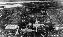 An aerial view of Washington D.C, USA including the Capitol Building around Jan. 3, 1931. (AP Photo)