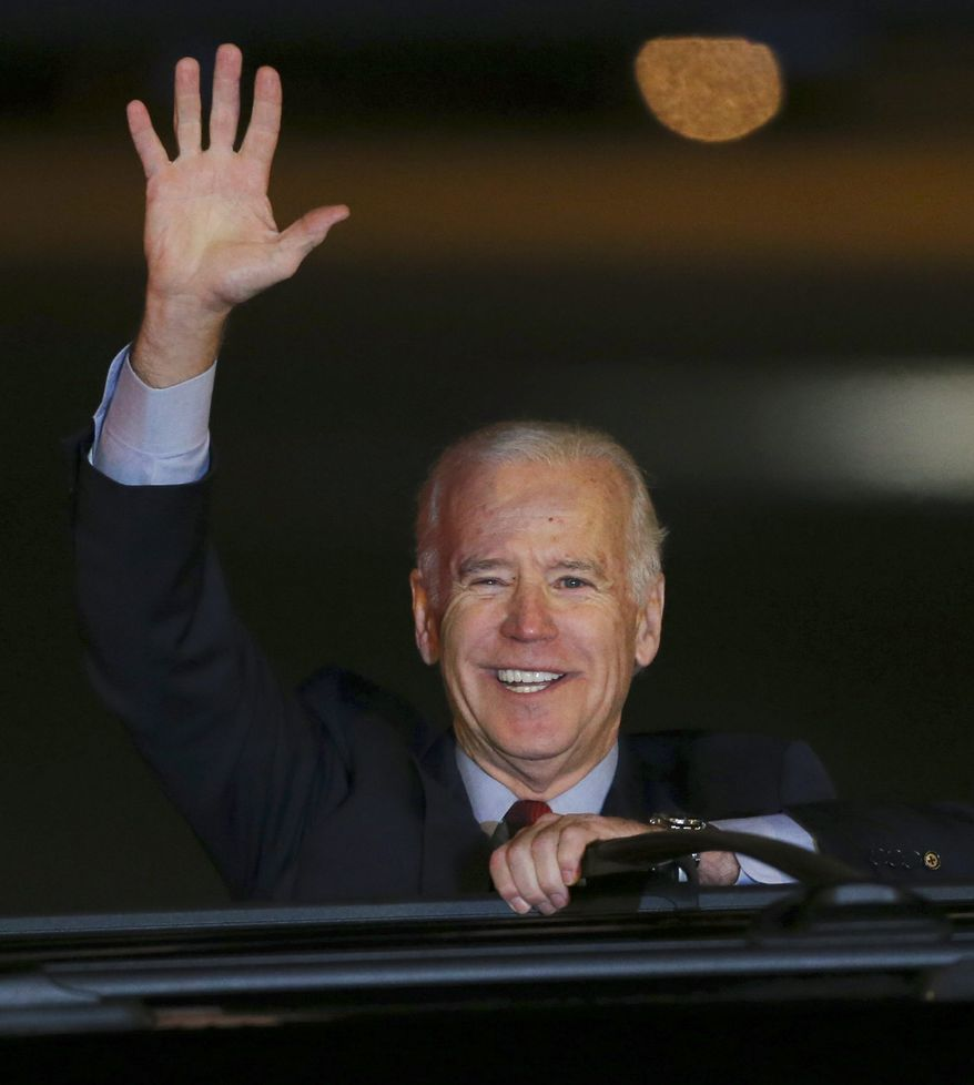 """Vice President Joseph R. Biden arrives in Tokyo on Monday to start a three-country trip that will allow him to raise U.S. """"concerns with policymakers in Beijing and to seek clarity regarding the Chinese intentions"""" in the East China Sea, the White House said. (Associated Press)"""
