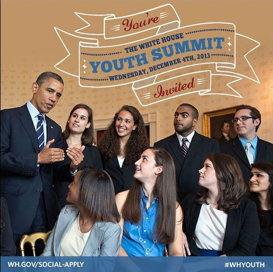 The White House Youth Summit is scheduled for Wednesday, maybe just in time. A new Gallup poll reveals that Americans who have not yet turned 30 know the least about Obamacare. (THE WHITE HOUSE)