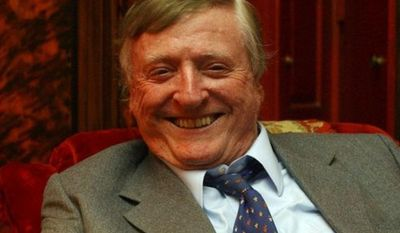 """**FILE**William F. Buckley Jr., the conservative pioneer and television """"Firing Line"""" host, smiles during an interview at his home in New York on July 20, 2004.  Buckley died Wednesday morning, Feb. 27, 2008.(AP Photo/Frank Franklin II)"""