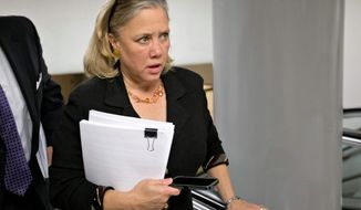 Sen. Mary L. Landrieu, Louisiana Democrat, is among the red-state Democrats who will be challenged during her re-election campaign about her support of President Obama's judicial nominees. (ASSOCIATED PRESS)