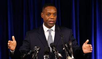 """Time is of the essence, and we will continue to move forward as quickly and efficiently as possible,"" said Detroit Emergency Manager Kevyn Orr after a judge Tuesday cleared the way for the city to proceed with a bankruptcy filing. Detroit is eligible to shed billions in debt in the largest public bankruptcy in U.S. history. Unions trying to preserve the pensions of city workers had objected. (ASSOCIATED PRESS)"