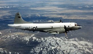 In 2001, a Chinese J-8 fighter crashed into a U.S. EP-3 (above) surveillance aircraft flying some 70 miles off the Chinese coast, setting off a crisis for new President George W. Bush. (U.S. Navy)